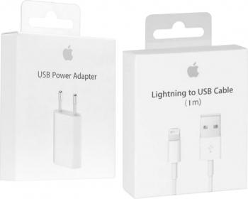 Incarcator Apple Original pentru iPhone 55s66s6+6s+77+88+XXsXs MaxXR cu Cablu Apple Lightning - Blister Accesorii Diverse Telefoane