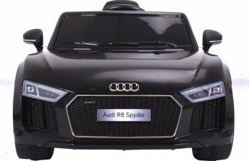 Masinuta electrica cu telecomanda AUDI R8 Spyder negru Masinute si vehicule pentru copii