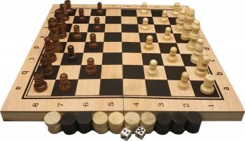 Joc sah si table din lemn crem cu negru 2525 cm Jocuri de Societate