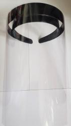 Masca pentru protectie tip viziera set format din suport + 5 ecrane Articole protectia muncii