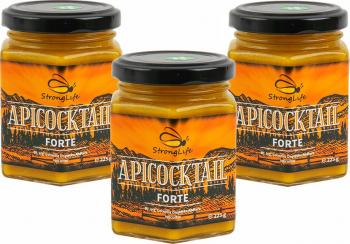 Pachet ApiCocktail Forte - mix-uri apicole pentru intarirea sistemului imunitar by Dr. Ing. Cornelia Dostetan Abalaru apicultor - 225g