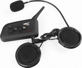 Sistem de comunicare moto EJEAS Vnetphone V4 Pro conversatie de pana la 4 rideri simultan Bluetooth 850 mah autonomie mare de pana la 12 ore Statii radio