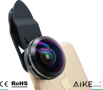 Lentila HD Fisheye pentru telefon full frame Gimbal, Selfie Stick si lentile telefon