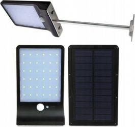 Aplica solara slim 5W 36 LED-uri SMD senzor de miscare 3 moduri 2000mAh 300lm alb rece