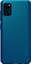 Husa protectie spate din plastic texturat albastru pentru Samsung Galaxy A41- Nillkin Frosted Shield