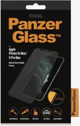 Folie Sticla PanzerGlass Privacy pentru iPhone Xs Max 11 Pro Max Negru Folii Protectie