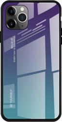 Husa de protectie Bibilel Gradient pentru iPhone 11 Pro Max protectie spate bumper capac de protectie Albastru Negru BBL1442 Huse Telefoane
