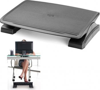 Suport ergonomic pentru picioare unghi reglabil suprafata antiderapanta 45x35cm negru