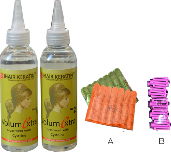 Set Tratament Volum la radacina nr.1 + nr.2 + Aplicatori IHAIR KERATIN 150 ML Masti, exfoliant, tonice