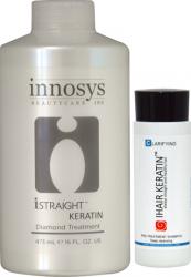 Tratament Intensiv Keratina iStraight Diamond 473ml + Cadou Sampon Clarifiant Masti, exfoliant, tonice