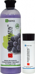 Tratament Keratina Bio Grapes 500ml + Cadou Sampon Clarifiant 100ml Ihair Keratin Masti, exfoliant, tonice