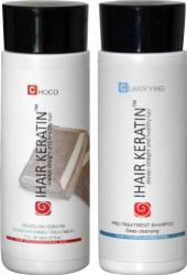 Tratament keratina kit 100ml Choco Ihair Keratin Masti, exfoliant, tonice