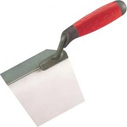 Gletiera Profesionala pentru colt Exterior - 10 x 12 cm - lama inox flexibil maner soft bi-material protectie deget