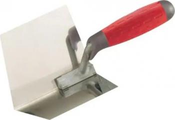 Gletiera Profesionala pentru colt Interior - 10 x 12 cm - lama inox flexibil maner soft bi-material protectie deget Scule constructii