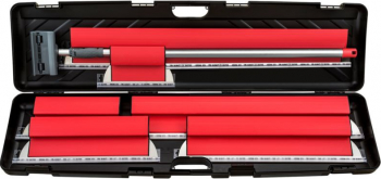 KIT Gletiere Profesionale Premium - Set Complet 6 Gletiere 25/35/45/60/80/100 cm 0.3 mm + Prelungitor 2m + Carcasa Transport Seturi scule