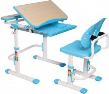 Set birou si scaun copii ergonomic reglabil in inaltime ErgoK REIA Albastru