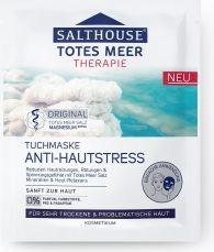 Masca din panza impotriva stresului facial cu ulei de migdale si minerale Salthouse Masti, exfoliant, tonice