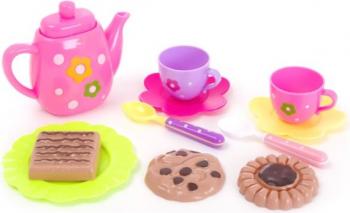 Set de servit ceai 11 piese multicolor 3 ani + Topi Toy Jucarii