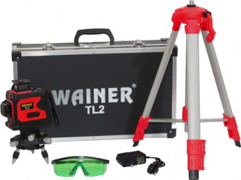 Nivela laser cu autonivelare 12 linii verzi 360 grade WAINER TL2 + trepied 45-120cm