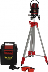 Nivela laser cu autonivelare 5 linii rosii WAINER TL1 + trepied 55-110cm