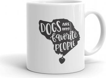 Cana personalizata Dogs Are My Favorite People Cadouri