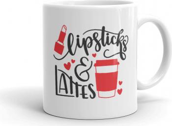 Cana personalizata Lipsticks and Lattes