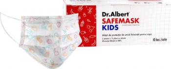 Set 30 masti pentru copii Dr.Albert SAFEMASK KIDS BFE 98 Chirurgicale Masti chirurgicale si reutilizabile