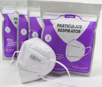Set 5 masti certificate CE de uz medical KN95 FFP2 5 straturi sigilate individual Masti chirurgicale si reutilizabile