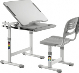 Set birou si scaun copii ergonomic reglabil in inaltime ErgoK SOL Gri