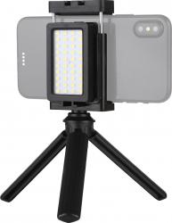 Trepied si maner pentru telefoane mobile cu lumina led inclusa pentru selfie si filmari Gimbal, Selfie Stick si lentile telefon