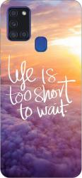 Husa Silicon Soft Upzz Print Samsung Galaxy A21s Model Life Huse Telefoane