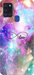 Husa Silicon Soft Upzz Print Samsung Galaxy A21s Model Neon Love Huse Telefoane
