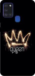 Husa Silicon Soft Upzz Print Samsung Galaxy A21s Model Queen Huse Telefoane