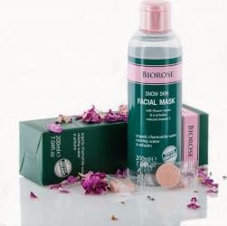 Masca faciala hidratanta si calmanta Snow Skin cu apa florala si vitamina C naturala Biorose 200 ml