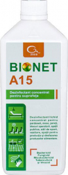 Dezinfectant concentrat pentru suprafete Bionet A15 1L Gel antibacterian