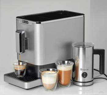 Pachet Espressor automat Studio Casa DIVA DE LUXE cafea boabe 1.1 l 1470W 19Bar inox +Aparat Spumat Lapte Expresoare espressoare cafea