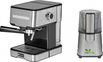 Pachet Espressor cu pompa Studio Casa Espresso Mio SC 2001 850 W 15 bar 1.2 l Inox + Rasnita Del Caffe Grind Master 220W 60g Expresoare espressoare cafea