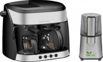 Pachet Espressor Studio Casa 3 in 1 Di Mattino SC425 15 bari 1700W 1.25 l Functie spumare + Rasnita Del Caffe Grind Master 220W 60g Expresoare espressoare cafea