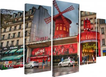 Tablou modular din cinci elemente Moulin Rouge Tablouri