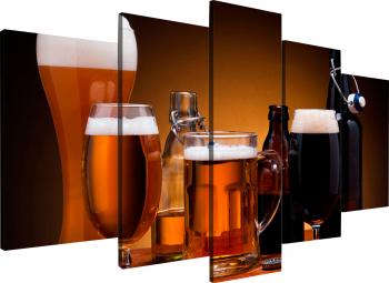 Tablou modular din cinci elemente - Sortimente de bere Tablouri