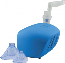 Aparat aerosoli Sanity Domowy AP 2819 nebulizator cu compresor masca pediatrica si masca adulti Albastru Cantare, termometre si aerosoli