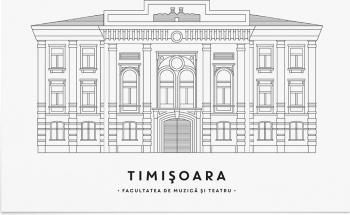 Tablou Facultatea de Muzica si Teatru Timisoara - Art Print 30x40cm Tablouri