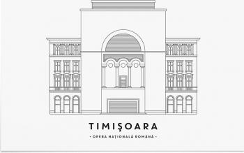 Tablou Opera Nationala Timisoara - Art Print 30x40cm Tablouri