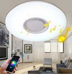 Aplica LED 24W cu Bluetooth muzica si aplicatie Android lumina neutra Corpuri de iluminat