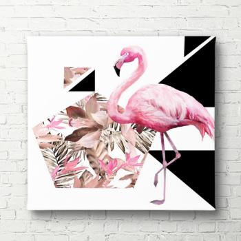 Tablou canvas Flamingo roz 40x60cm Tablouri