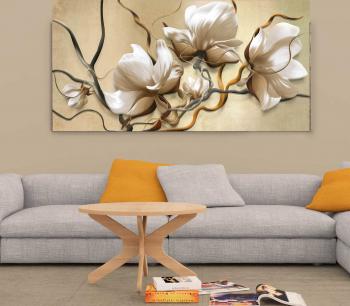 Tablou canvas Flori albe 40x60 cm Tablouri