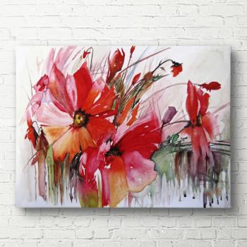 Tablou canvas Flori rosii 40x60 cm Tablouri