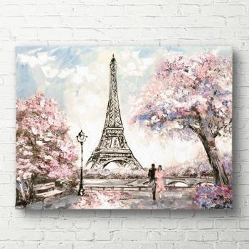 Tablou canvas Parisul primavara 40x60 cm Tablouri