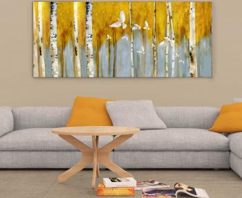 Tablou canvas Peisaj de toamna 40x60 cm Tablouri
