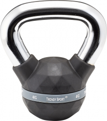Gantera Kettlebel Exclusiv Premium 4 kg Maner crom Negru Accesorii fitness